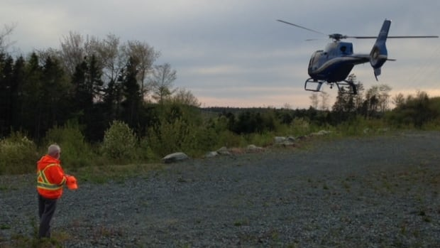 Two helicopters were used in the search on Friday. They'll be back in the air Saturday.