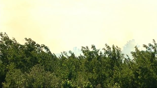 Up to 10 acres of land were scorched in Stittsville brush fire Friday.