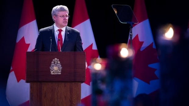 """Prime Minister Stephen Harper, at a fundraiser for a memorial to the victims of communism in Toronto, said communism was """"poisonous"""" and """"catastrophic."""""""