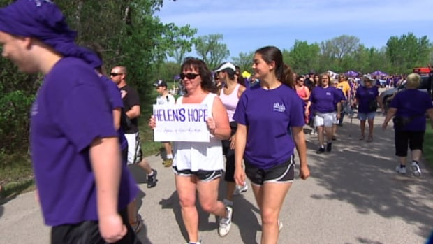 About 1,600 people took part in the Walk for ALS at Assiniboine Park Saturday.
