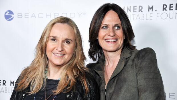 Melissa Etheridge, left, and Linda Wallem have been together since 2010.