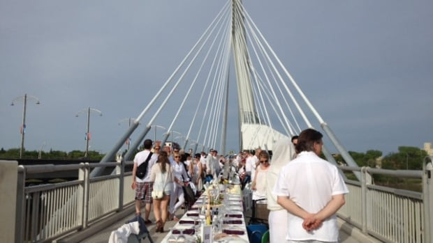 1,200 people took a seat at the Table for 1,200 dinner near the forks, put on to celebrate Winnipeg's burgeoning design culture.