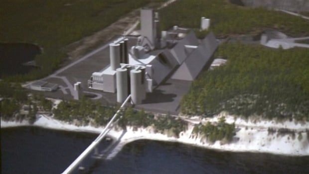 Construction of the McInnis Cement works in Gaspé is expected to create around 2,300 jobs in a region that has been hard hit by unemployment.