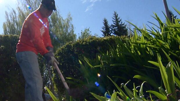 A group of volunteers from Samaritan's Purse helped clean up yards damaged in last year's flood over the weekend.