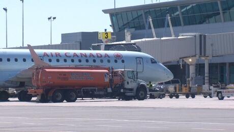 Air Canada plane at St. John's airport