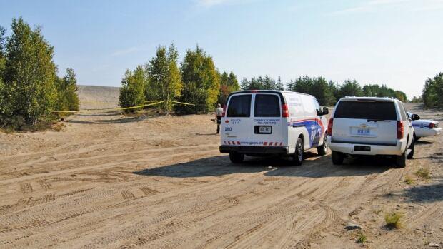 garson pit party crime scene near Sudbury, Ont.