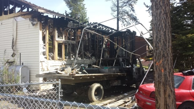 Police say a fire that gutted a home in Whitehorse's McIntyre subdivision Saturday night is being treated as suspicious.