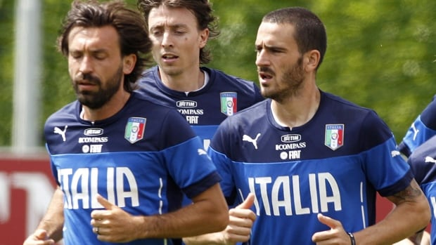 Riccardo Montolivo, middle, broke his leg and won't suit up for Italy at the World Cup.