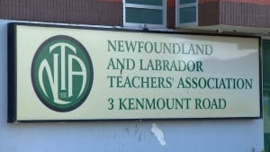Newfoundland Labrador Teachers Association NLTA sign CBC