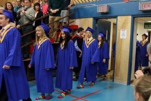 Rainbow socks at Vanier school graduation