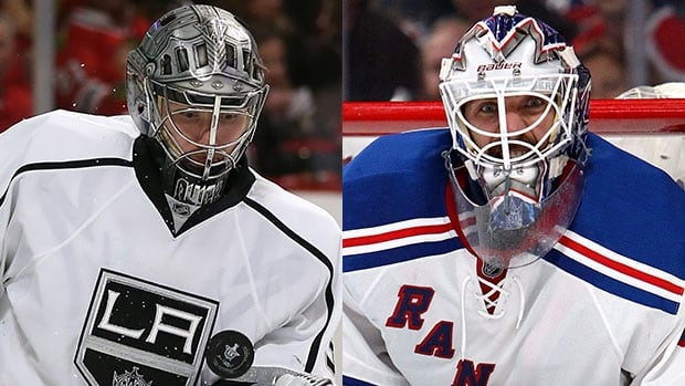 Kings goalie Jonathan Quick, left, and the Rangers' Henrik Lundqivst will be key players in the NHL's championship series.