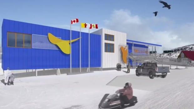A drawing of the proposed $2.5 million Cape Dorset Arts and Cultural Centre. A fundraising campaign is underway to build a new gallery and studio space in the Nunavut hamlet, home to Canada's most famous Inuit artists.
