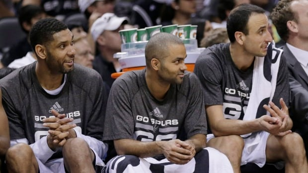Tony Parker, centre, said he wanted to play in the second half of the final game of the Western Conference final against Oklahoma City.