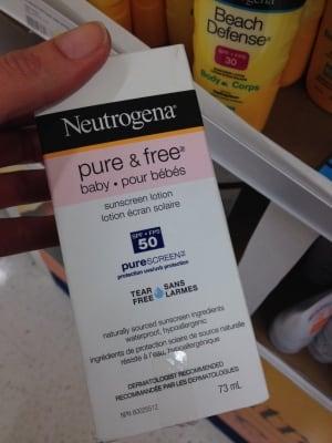 Expired sunscreen