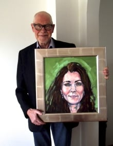 Tom Sutton-Smith with Kate painting