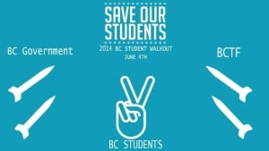 B.C. Students Walkout for Students poster