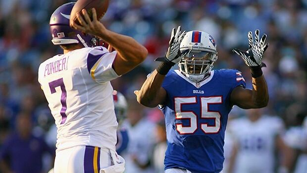 Jerry Hughes, shown at right, said he was also involved with the alleged drag race with teammate Marcell Dareus.