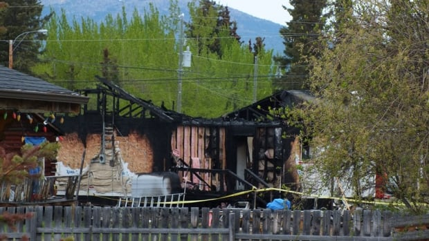 A Teslin, Yukon, family is homeless after a fire gutted their home Tuesday night.