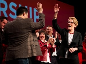Han Dong and Kathleen Wynne