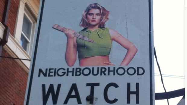 Buffy The Vampire Slayer watches over a Toronto neighbourhood, courtesy of Andrew Lamb.