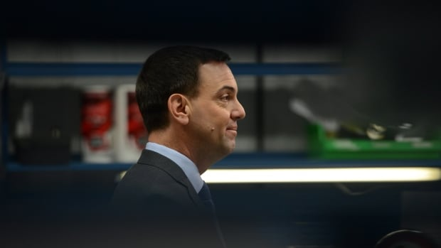 Ontario PC Leader Tim Hudak makes a campaign stop in Ottawa on June 5. Hudak suggests that Kathleen Wynne and the Liberals may have arranged some kind of deal with the union representing Ontario Provincial Police officers in return for its support during the campaign.