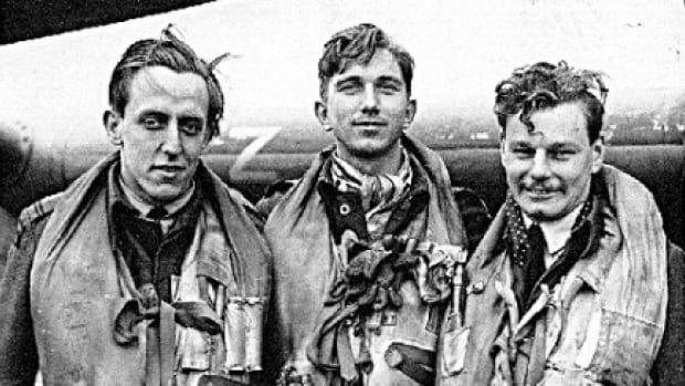 Dr. Peter Roper, middle, was shot down over Normandy on June 7, 1944, and rescued by French villagers. At 91, he still pays his rescuers visits.