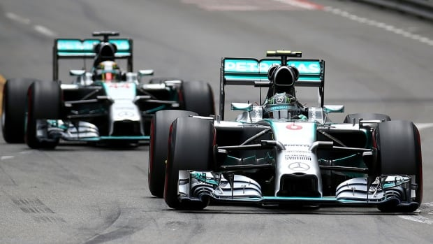The Mercedes duo of three-time Canadian Grand Prix champion Lewis Hamilton, left, and Nico Rosberg, right, has won all six races to start the season, finishing one-two in the last five. They will try to continue their dominance on Sunday in Montreal.