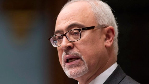 Quebec Finance Minister Carlos Leitao presents the provincial budget on June 4. It resurrects the idea of a rail line to carry iron ore from northern Quebec to port.