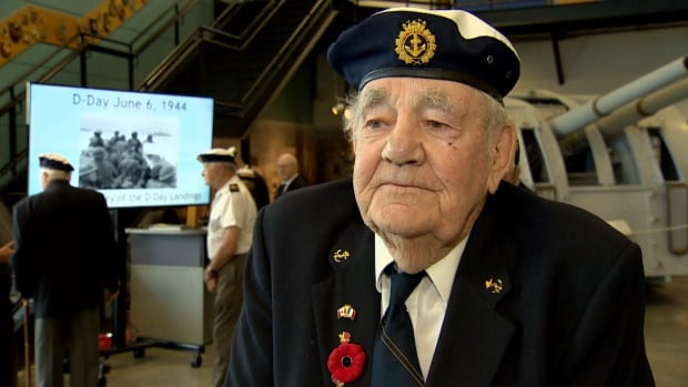 Veteran Gordon Rowan took part in a ceremony at the Military Museums to commemorate D-Day.