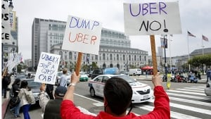 Uber protest San Francisco