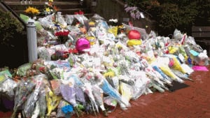 Memorial outside the Codiac RCMP headquarters