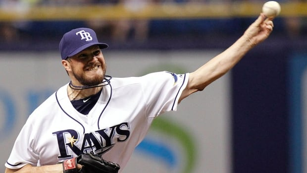 Rays left-hander Erik Bedard pitches during the first inning against Seattle on Friday night. The Navan, Ont., native struck out a season-high eight batters over six innings in Tampa Bay's 4-0 victory.
