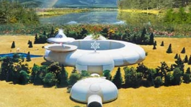 Concept art for an embassy to greet extraterrestrial representatives, as proposed by the International Raelian Movement in Canada.