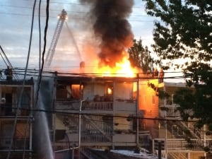 Mount Pleasant apartment building fire June 7, 2014