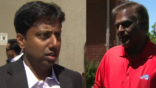 Neethan Shan, left, is running for the NDP in a rematch against Liberal Bas Balkissoon in Scarborough–Rouge River, but the race has gotten more complicated this time around.