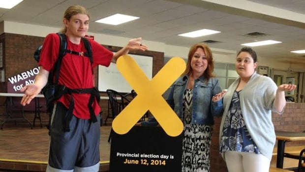 Cambrian College students Alistair Woods, Lindsey Turpin and Rebecca Dorst have either had trouble voting or have heard of fellow students who have. This year's provincial elections falls at a time when many students are away from home and campus.