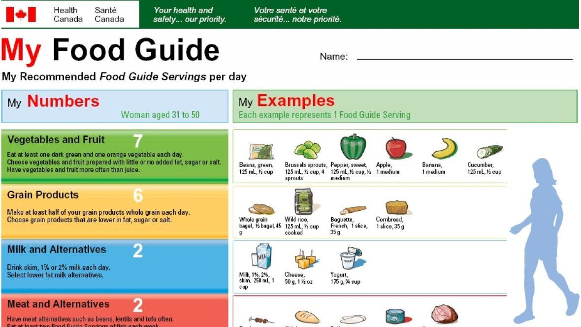 Canada Food Guide Input