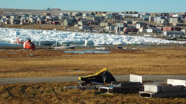 A view of the hamlet of Igloolik, Nunavut.
