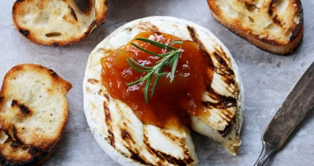 Grilled brie