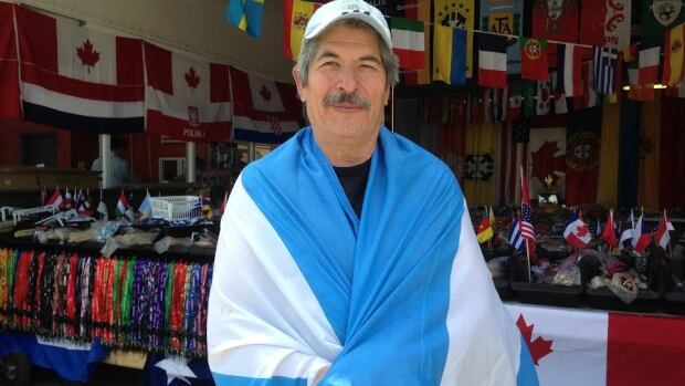 Julio Arce will be pulling for Argentina in the FIFA World Cup.