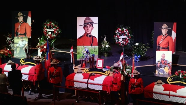 The University of Moncton and St. Malachy's Memorial High School each announced bursaries on Tuesday to help the families of the three Mounties, who were killed two weeks ago in Moncton.