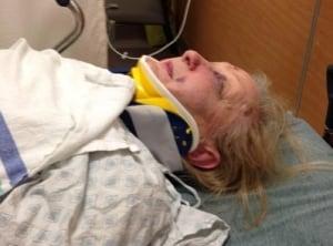 Katherine Gimple McEwen bus fall