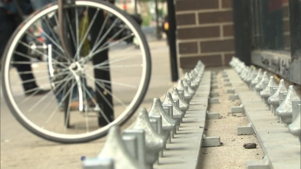 These controversial spikes were removed quickly after they were installed in front of Archambault in downtown Montreal.