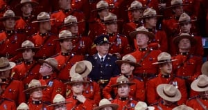 RCMP funeral interior