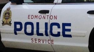 Edmonton police car door