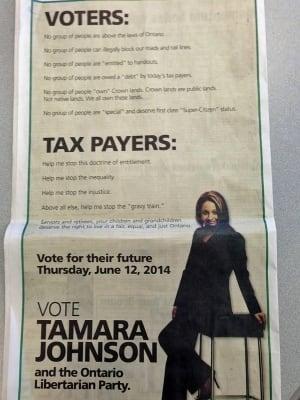 tamara johnson political ad