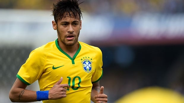Neymar and host Brazil are favoured to win the FIFA World Cup.
