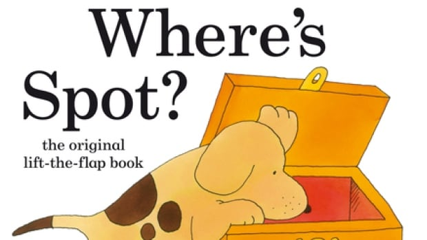 Eric Hill's innovative book Where's Spot, first published in 1980, introduced to children's books the then-novel device of lifting flaps to reveal hidden images.