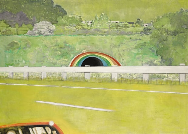 Peter Doig's Country-rock (wing-mirror)