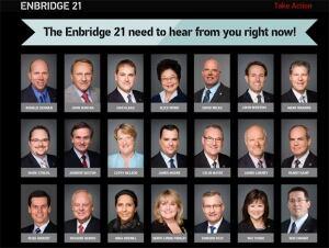 The Enbridge 21website targets B.C. Tory MPs